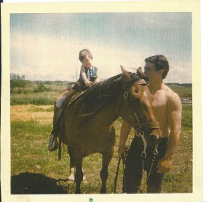 1971 Dad and I on the farm 2