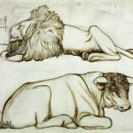 The Bull and the Lion null by Philip Webb 1831-1915